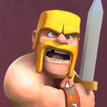 clash of clans варвар