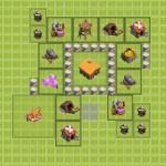 clash of clash расстановка ратуша 2-го уровня