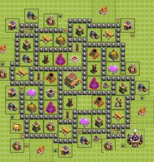 clash of clans расстановка th8