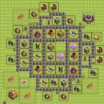 расстановка базы в clash of clans тх 7 для фарма