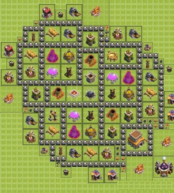 расстановка базы в clash of clans th8 для фарма