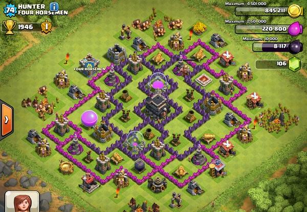 clash of clans ратуша 9 расстановка на кубки