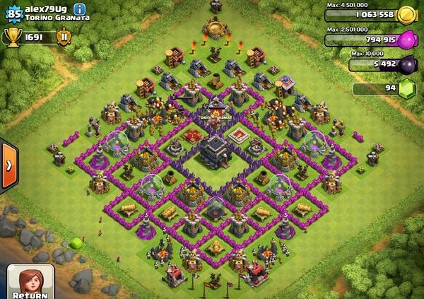 расстановка базы в clash of clans th9 на кубки