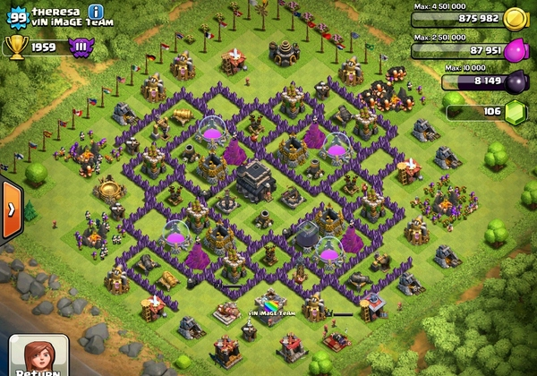 clash of clans база 9