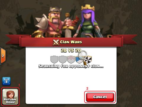 Почему я не могу найти войну кланов?