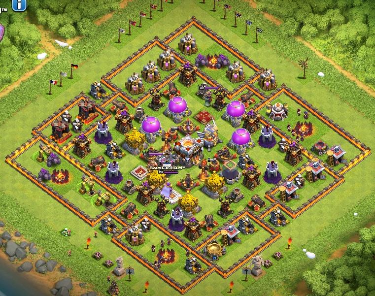 clash of clans 11 ратуша для защиты