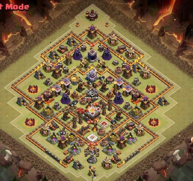 Clash of clans 11 town hall расстановка для войны кланов