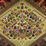 Clash of clans 11 town hall расстановка для клановой войны