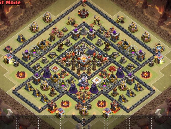 Clash of clans 11 town hall расстановка для КВ