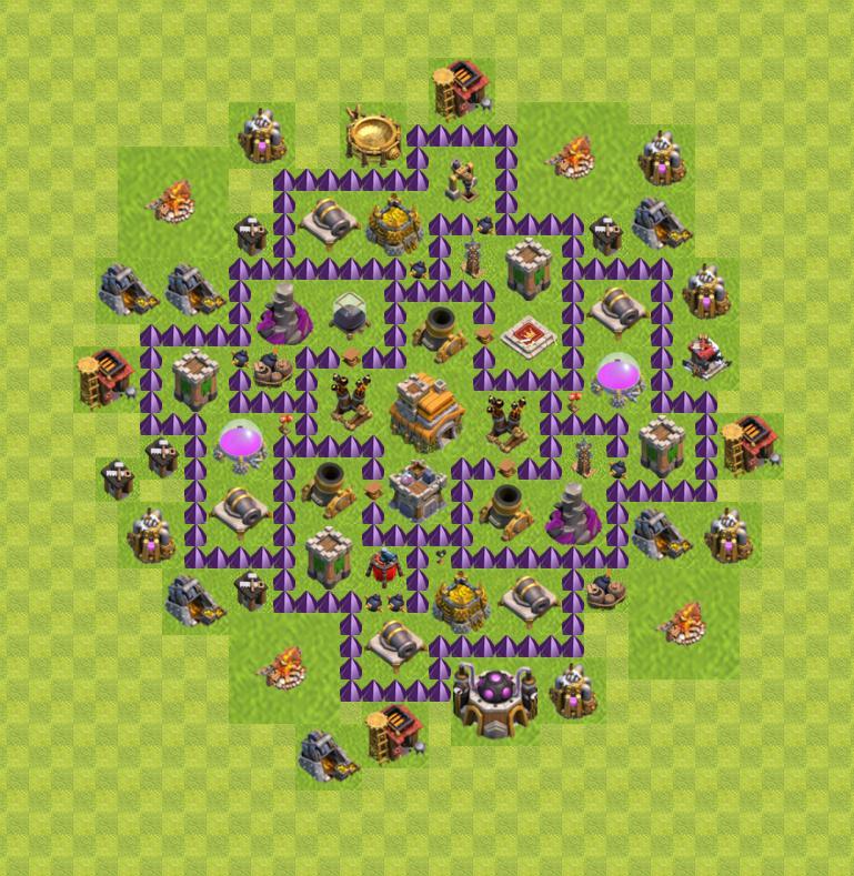 ратуша 7 уровня clash of clans расстановка