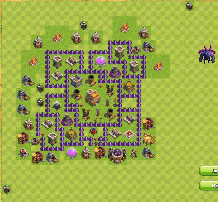 clash of clans расстановка базы тх 7