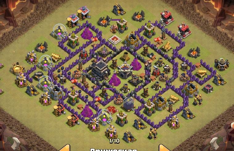 расстановка clash of clans базы на кв