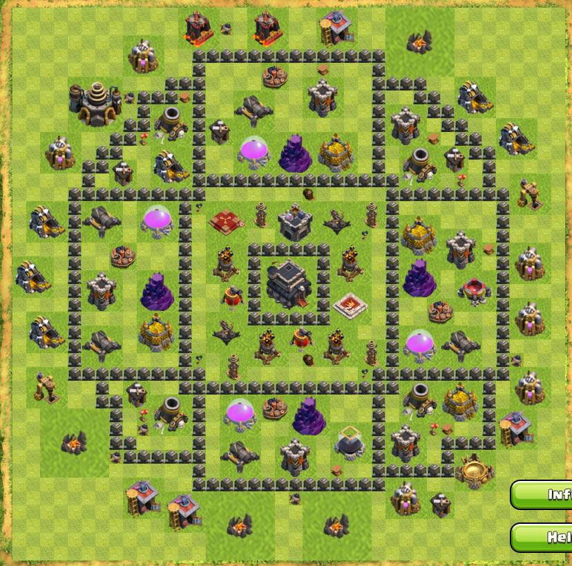 война кланов clash of clans расстановка