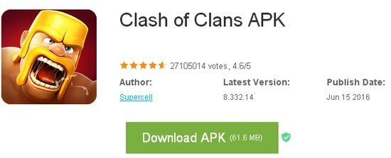 Clash of clans apk последняя версия