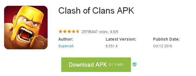 скачать обновление clash of clans