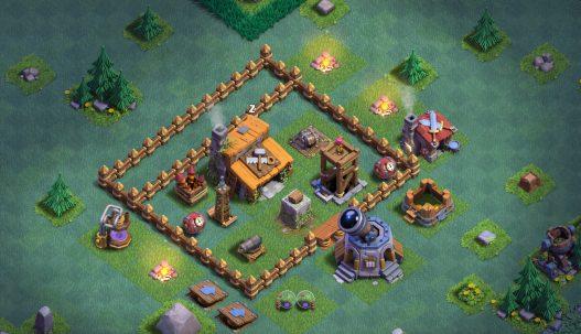 clash of clans деревня строителя 2 уровень