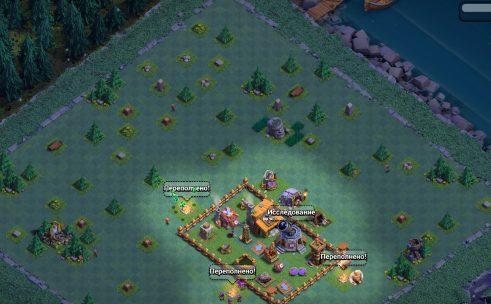 clash of clans деревня строителя расстановка уровень 2