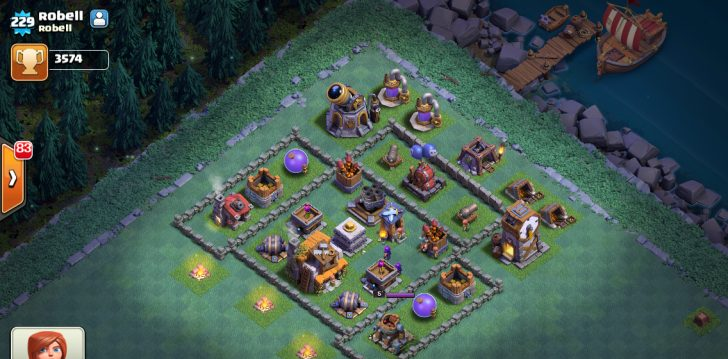 Clash of clans расстановка деревни строителя 5 уровень