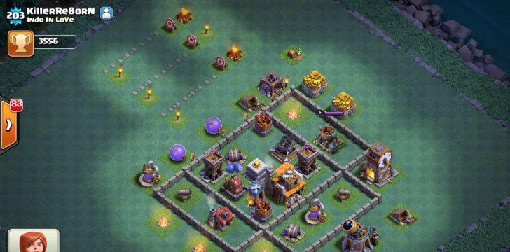 Clash of clans расстановка деревни строителя 5 ратуша