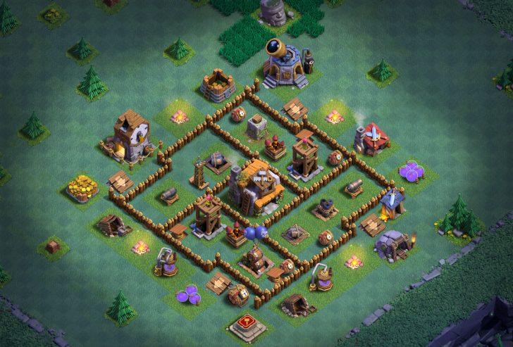 Clash of clans расстановка новой деревни строителя 5 дом