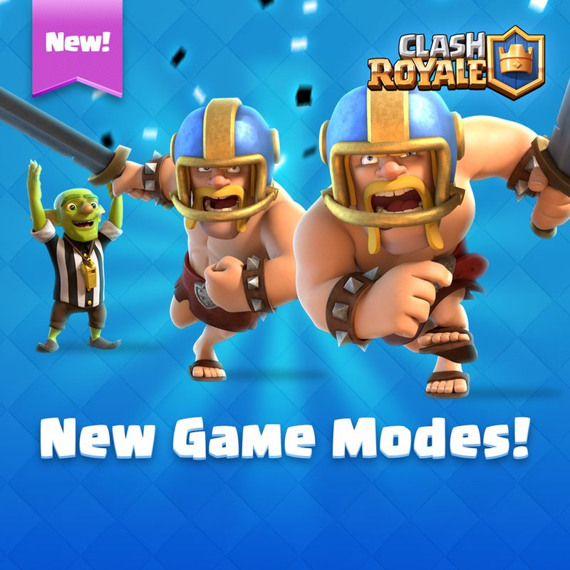 Новый игровой режим Touchdown Clash Royale