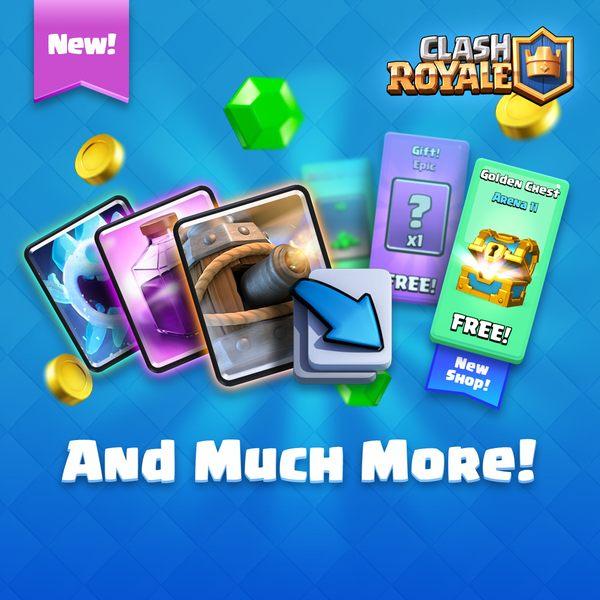 Еще бонусы в обновлении Clash Royale в октябре